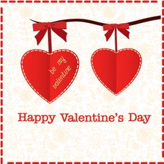 Valentines Day Cards collection of Valentines Day cards with red heart.
