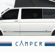 Camper Twin Line 2 tone T4, T5, T6! - Side Stripe for Transporter - T4, T5 Volkswagen, Camper , Van, Vinyl, Decal, Graphic