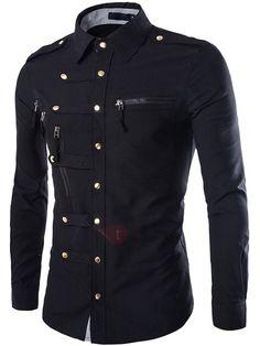 Camisa Hombre Botónes Bolsillo
