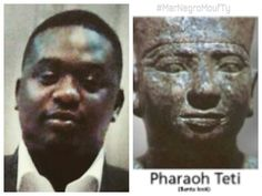 Nigerian Man. Wande Coal & Pharaoh Teti. The real people Pharaonique. Kemetic