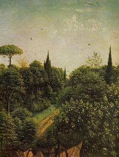 Detail from the Ghent Altarpiece by Jan van Eyck, 1432