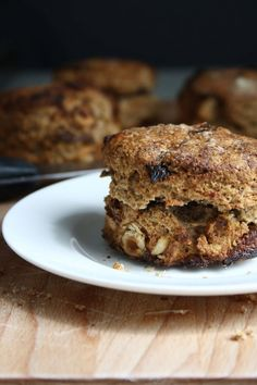 Fig, Date & Hazelnut Scones made with spelt flour