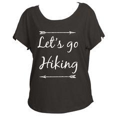 Let's Go Hiking Womens Off Shoulder Shirt