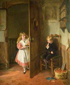 George Bernard O'Neill - The Naughty Boy, 1867