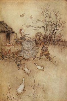 Arthur Rackham's Illustration to Washington Irving's Rip Van Winkle Arthur Rackham at Art Passions