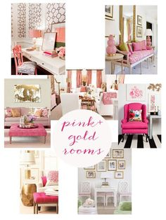 home inspiration {pink + gold rooms}