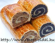 Hungarian sweet rolls - cakes  : walnut and poppy seeds