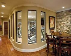 27 Amazing Luxury Finished Basement Ideas - Home sweet home - Home Gym Home, House Design, Sweet Home, Home N Decor, Traditional House, Remodel, New Homes, Finishing Basement, Home Gym Design