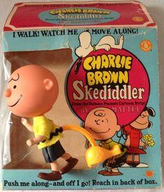 """vintagetoyarchive: """" MATTEL: 1968 CHARLIE BROWN Skediddler Doll """""""