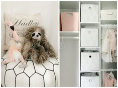 Making a small nursery functional. Gray and pink nursery. White Nursery, Nursery Neutral, Girl Nursery, Budget Organization, Nursery Organization, Small Nurseries, Nursery Inspiration, Nursery Design, Hadley