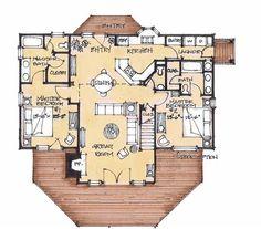 Lake Lure Lodge Main Floor - Natural Element Homes  4 bed, 3.5 bath, loft, 2,447 sq. ft