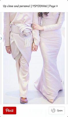 Yasmin + Fadzli (Reception) by Kudegraphy Low Res - 682 Muslimah Wedding Dress, Muslim Wedding Dresses, Dream Wedding Dresses, Wedding Suits, Wedding Attire, Bridal Dresses, Bridal Hijab, Hijab Bride, Malay Wedding Dress