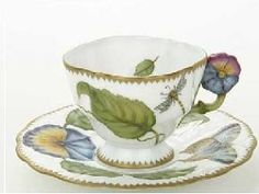 Anna Weatherley flower handle cup & saucer