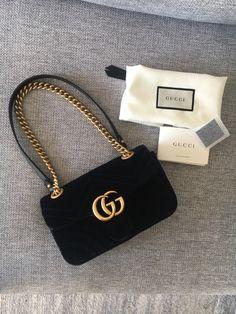 Gucci GG Marmont Mini Velvet Black Bag on Mercari Luxury Purses, Luxury Bags, Dior Handbags, Louis Vuitton Handbags, Maquillage Kylie Jenner, Fake Designer Bags, Designer Purses, Chanel Purse, Replica Handbags