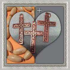 Lot of 2 silvertone cross pendants lost the 3rd Silver tone crosses No brand Jewelry Necklaces
