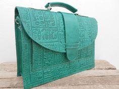 SALE - Handmade Leather Messenger Bag for Women, Light Green Leather Macbook Laptop Satchel Bag, Boyfriend Gift