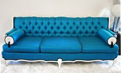 Love the color of this sofa!