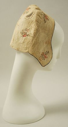 18th century cotton cap, French
