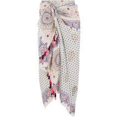 Monsoon Namaste Sarong ($49) ❤ liked on Polyvore featuring swimwear, cover-ups, skirts, bottoms, sarong swimwear, print swimwear and sarong cover ups