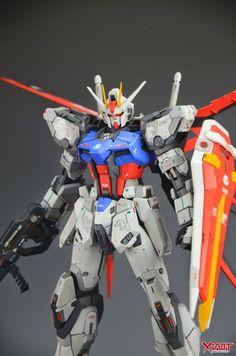MG Strike Gundam - Customized Build Gunpla Custom, Custom Gundam, Strike Gundam, Gundam Astray, Gundam Wallpapers, Gundam Mobile Suit, Unicorn Gundam, Gundam Seed, Gundam Art