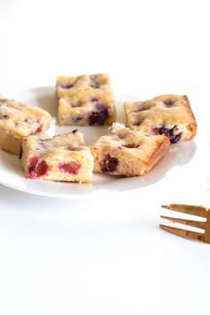 Blackberry Blondies | A Dutchie Baking