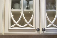 Dylan Dreyer's kitchen -- like the glass with trim cabinets!
