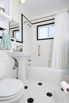 Pro Pictures of the Bathroom Family Bathroom, Laundry In Bathroom, Budget Bathroom, Master Bathroom, Bathroom Ideas, 1930s Bathroom, Vintage Bathrooms, Kids Bath, Bath Design