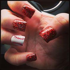 Baseball nails! ❤⚾