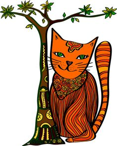 Cat, vector illustration by Creating_Is_Happiness on Creative Market