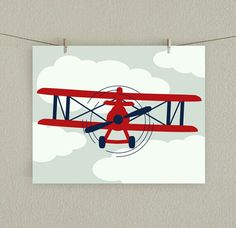 Airplane-clothes line to hang prints