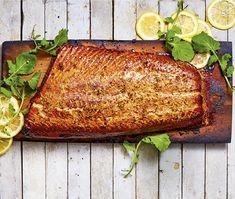 Honey-ginger Cedar-plank Salmon
