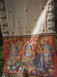 kalamkari sarees | Painting on Tussar Silk, Kalamkari Painting, Designer Wear…