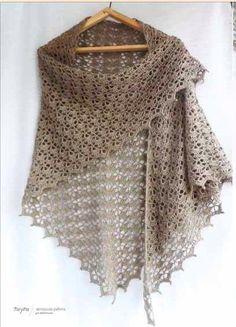 new ideas crochet shawl pattern free scarves Prayer Shawl Crochet Pattern, Crochet Prayer Shawls, Crochet Shawl Free, Crochet Shawls And Wraps, Knit Or Crochet, Crochet Scarves, Crochet Clothes, Easy Crochet, Shawl Patterns