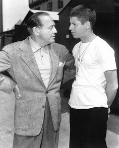 """Sailor Beware"" Jack Benny with Jerry Lewis on the set 1952 Paramount"