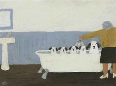 Gary Bunt | Bath Night - We really don't Like bath night We get wet and soggy…