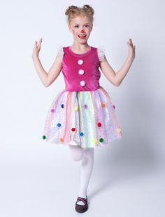 Clown Kleid für Mädchen für Karneval & Fasching kaufen | Deiters  | Kinder | Kostüm | Karneval | Fasching | Outfit | Mottoparty | Halloween