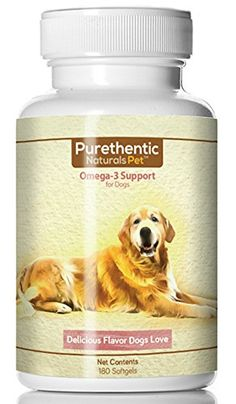Omega 3 for Dogs Fish Oil for Dogs 180 Softgels Featuring Pure  Natural Fatty Acids High Levels of EPA and DHA Helps Dog Allergies  Brain Function Made in USA 1 pk *** Click image to review more details.