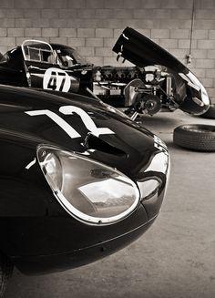 Jamie Boot's 1963 Jaguar E-type No.72 & Chris Scragg's 1962 Jaguar E-type No.47 - 2011 Masters Historic Festival at Oulton Park by rookdave