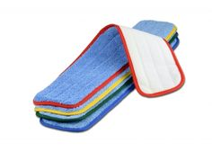 """26"""" Color-Coded Microfiber Wet Mop Pads Floor Cleaning Mop, Cleaning Mops, Cleaning Supplies, Heavy Duty Velcro, Mop Pads, Wet Floor, Cleaning Business, Towel, Infection Control"""