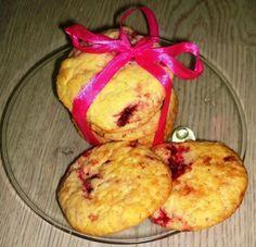 Malinovo citrónové cookies ♥ - recept postup 1 Muffin, Cheese, Cookies, Breakfast, Food, Lemon, Crack Crackers, Morning Coffee, Eten