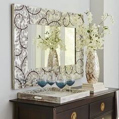 Mosaic Mirror Wall Decor pier 1 | scalloped mosaic mirror | home decor | pinterest | mosaic