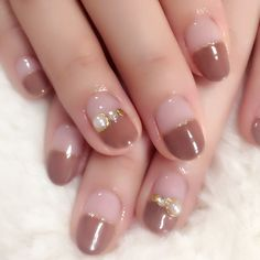 These 16 stunning nude nail art trend ideas will give you elegance, modernity, and beauty. If you are short of nail design ideas, read this article that will surely help you. Nail Swag, Colorful Nail Designs, Nail Art Designs, Hair And Nails, My Nails, Gel Nagel Design, Nail Designs Pictures, Nail Time, Japanese Nail Art