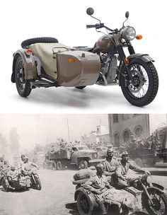 """Ural M70 Anniversary Edition.  Cool bike, but """"side cars are for bitches""""....unless of course it's mounted with a .50 cal. :)"""