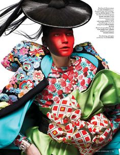 Futuristic Geisha Editorials - Eugenia Volodina by Ishi for Vogue Netherlands March 2013 is Fierce (GALLERY) Asian Inspired Fashion