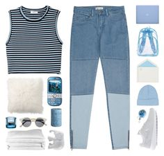 """theme tag: ocean"" by randomn3ss ❤ liked on Polyvore featuring Frette, Reiss, A.L.C., Topshop, Connor, NIKE, The Elephant Family, Retrò, Pottery Barn and Pier 1 Imports"