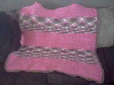 pink camo crochet baby blanket
