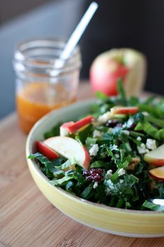 Kale and Chard Green Power Salad with Maple Vinaigrette | Aggie's Kitchen