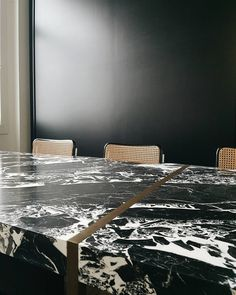 """NERO"" Dining Table by Dieter Vander Velpen Architects"