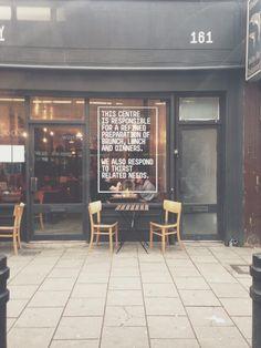 // jealous of a good window decal, kudos The Advisory, Hackney