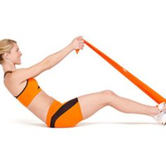 Blast belly fat and get flat abs with these hard-core resistance band exercises.